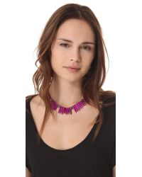 Made Her Think - Purple Tooth Skulls Necklace - Lyst