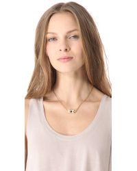 Tuleste - Metallic Tulip Necklace - Lyst