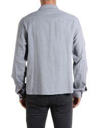 DIESEL - Blue Flannel Shirt for Men - Lyst