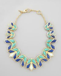 Lele Sadoughi | Lotus Bib Necklace Aegean Blue | Lyst