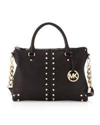 MICHAEL Michael Kors - Black Studded Shoulder Bag - Lyst