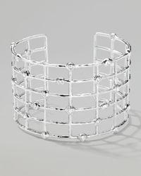 Ippolita - Metallic Silver Diamond Lattice Cuff Bracelet - Lyst