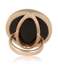 Monica Vinader - Black Rose Goldvermeil Onyx Ring - Lyst