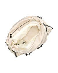 Stella McCartney | Beige Falabella Large Crocheted Shoulder Bag | Lyst