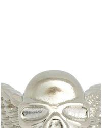 ASOS | Metallic Skull Ring with Wings for Men | Lyst