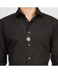 Bottega Veneta - Metallic Intrecciato Oxydized Silver Pendant for Men - Lyst
