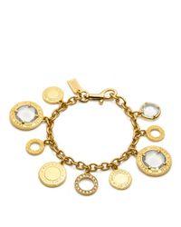 COACH - Metallic Glass Charm Bracelet - Lyst