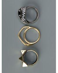 Iosselliani | Metallic Set Of Rings | Lyst