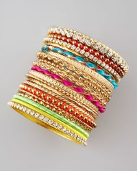 Cara | Multicolor 21piece Bangle Set | Lyst