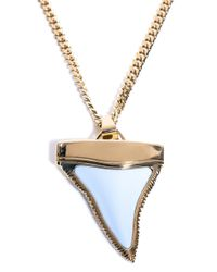 Givenchy | Metallic Shark Tooth Necklace | Lyst