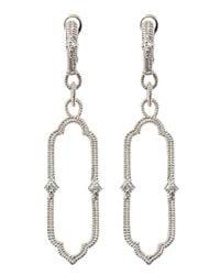 Judith Ripka | Chelsea White Sapphire Cutout Earrings | Lyst
