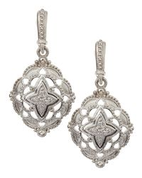 Judith Ripka - Metallic Windsor Pave Earrings - Lyst