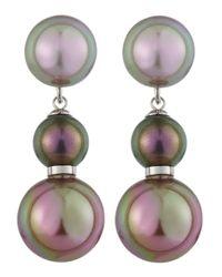 Majorica - Pink Pearl Drop Earrings - Lyst