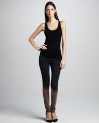 Rag & Bone - Gray The Legging Ombre Stretchleather Jeans - Lyst