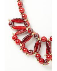 Anthropologie | Red Color Loop Bib | Lyst