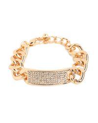 BaubleBar | Metallic Gold Link Bar Bracelet | Lyst