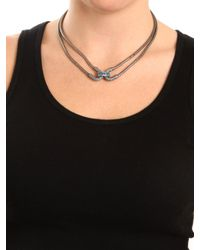 BaubleBar - Metallic Silver Double Cortina Necklace - Lyst