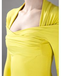 Carven - Green Fitted Draped Top - Lyst