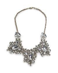 Mango | Metallic Chandelier Crystals Necklace | Lyst