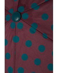 TOPSHOP - Purple Polka Dot Crook Umbrella - Lyst