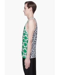 Marc By Marc Jacobs | Green Multicolor Sam Cheetah Tank Top for Men | Lyst