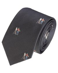 Shipley & Halmos - Blue Embroidered Artist Tie for Men - Lyst
