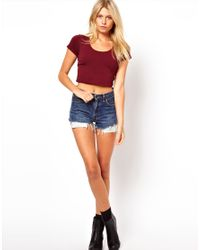 ASOS Collection | Red Asos 90s Crop Top | Lyst