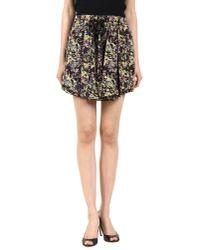 SUNO | Black Flounce Splatter Skirt | Lyst