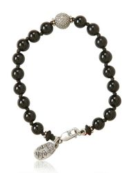 Aaron Jah Stone - Black Root Chakra Bracelet for Men - Lyst