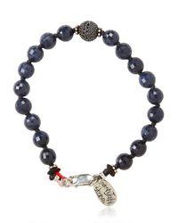 Aaron Jah Stone - Blue Sapphire Bracelet for Men - Lyst