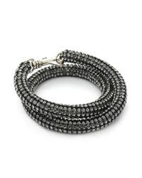 Atelier Swarovski | Black Bolster Bracelet Silver Night | Lyst