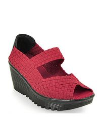 Bernie Mev | Halle Mary Jane Wedge in Red | Lyst