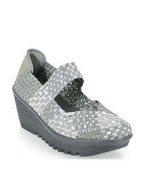 Bernie Mev | Gray Lulia Maryjane Comfort Shoe in Silver | Lyst