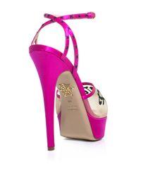 Charlotte Olympia - Purple Paris Satin Shoes - Lyst