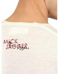 Dolce & Gabbana | White Mick Jagger Cotton Rayon Jersey T-shirt for Men | Lyst
