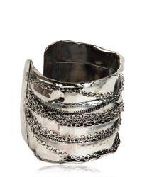 Emanuele Bicocchi - Metallic Chain Cuff Bracelet - Lyst
