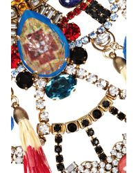 Erickson Beamon - Multicolor Telepathic Gold-Plated Crystal Necklace - Lyst