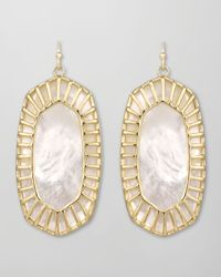 Kendra Scott - White Delilah Large Drop Earrings - Lyst