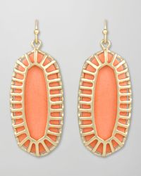Kendra Scott | Orange Dayla Small Drop Earrings | Lyst