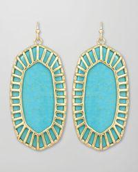 Kendra Scott | Blue Delilah Large Drop Earrings Turquoise | Lyst