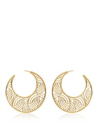 Lara Bohinc | Yellow Tatjana Hoop Earrings | Lyst