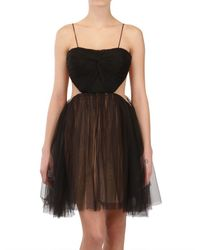 Maria Lucia Hohan | Black Draped Front Tulle Dress | Lyst