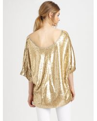 Rachel Zoe - Metallic Minelli Sequined Dolman Top - Lyst