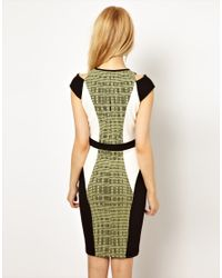 River Island | Multicolor Bodycon Dress with Panels | Lyst