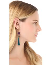 Bluma Project - Purple Fringe Earrings - Lyst