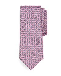 Brooks Brothers | Pink Circle Link Print Tie for Men | Lyst