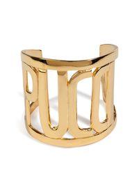 Emilio Pucci | Metallic Goldtone Pucci Cuff | Lyst