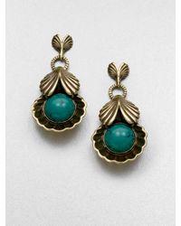 Giles & Brother - Metallic Circe Turquoise Drop Earrings - Lyst