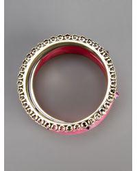 Iosselliani | Pink Set Of Bangles | Lyst