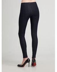 Joe's Jeans - Blue Ankle-zip Denim Leggings - Lyst